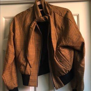 Plaid bomber jacket